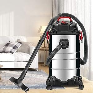 KUPPET Wet/Dry Vacuum, 4 in 1 VacuumCleaner,8 Gallon, 3.5 Horsepower, Stainless Steel Tank. (Color: Silver, Tamaño: 30L-2)