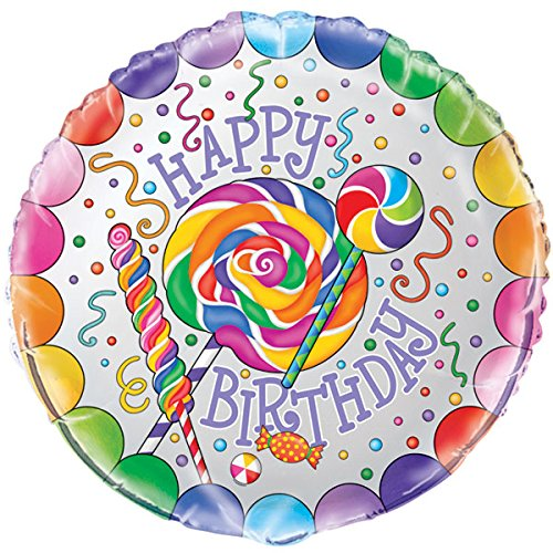 "18"" Candy Party Happy Birthday Foil Balloon - Birthday Balloon"