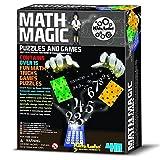 JUEGOS DE MAGIA marca 4M Modelo MATEMATICAS MAGICAS con 15 trucos de mates Niños + 8 años