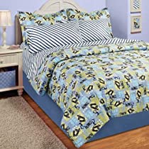 Skateboard Half Pipe Full Comforter Set (8 Piece Bed In A Bag)
