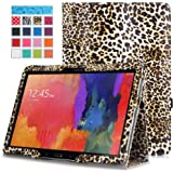 Moko Samsung Galaxy Note PRO & Tab PRO 12.2 Case - Slim Folding Cover Case for Galaxy NotePRO & TabPRO 12.2 Android Tablet, Leopard BROWN (With Smart Cover Auto Wake / Sleep)