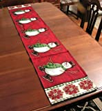 """Christmas Holiday Table Runner """"Snowman"""" 13 x 72 inches image"""