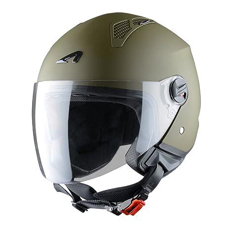 Astone Helmets MINIM-ARMYM Casque Jet Mini Jet Army Taille M