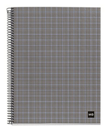 miquelrius-spiral-notebook-4-subjects-graph-pages-120-sheets-240-pages-a5-625-x-8-tartan-grey