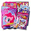 My Little Pony Coloring Book with Stickers & Take-N-Play Set ~ Shaped Foil Cover Pinkie Pie Coloring Book with My Little Pony Stickers, Markers, & Bonus Sticker!