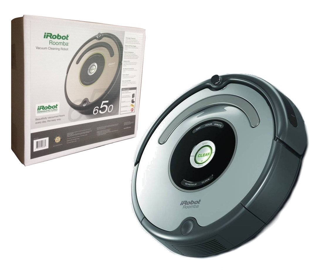 irobot roomba 650 automatic robotic vacuum certified. Black Bedroom Furniture Sets. Home Design Ideas