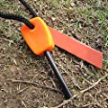 Jieyan Mini Magnesium Flint Stone Fire Starter Lighter Survival Camping Hunting Tool Orange from Generic