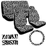 Seat Cover 11pc - Zebra White