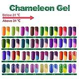 Eleacc Temperature Changing Colour Nail Soak Off UV LED Gel Polish Gelpolish 7.3milliliter (5711) Brand change to:Eleacc