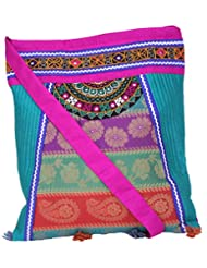 Ethnics Of Kutch Women's Multi-Coloured COLLAGE Bag With Traditional Kutch Handicraft Handwork Embroidary And... - B01A5W9P5I