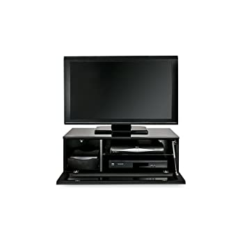 Alphason Element EMTMOD850-BLK Black - Modular Glass TV Cabinet Fits Up to 42inch TVs