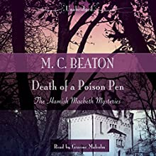 Death of a Poison Pen (       UNABRIDGED) by M. C. Beaton Narrated by Graeme Malcolm