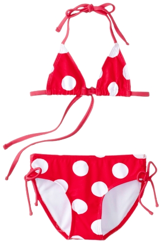 Kanu Surf Baby-Girls Infant Beachball Bikini, Red, 18 Months