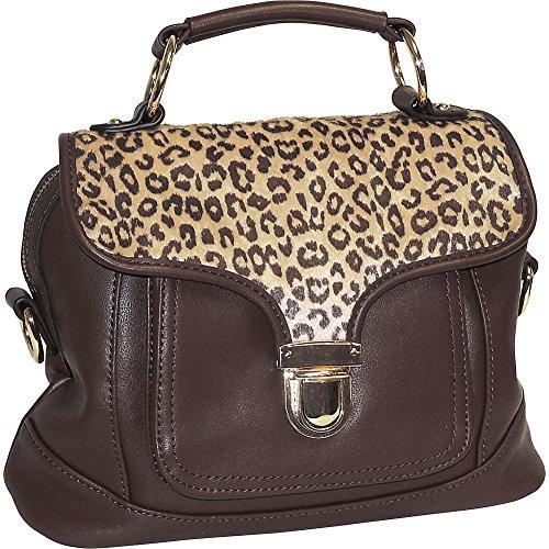 adrienne-landau-cheetah-print-front-pocket-satchel-brown