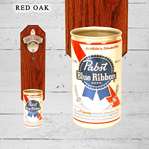 wall-mounted-bottle-opener-with-vintage-pabst-blue-ribbon-beer-can-cap-catcher
