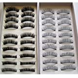 20 Pairs 2 Styles Fashion Regular Long and Thick Eyelashes
