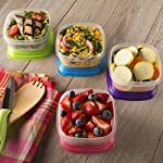 Stack Pack 1 Cup Portion Control Container Set (Set of 4)