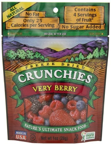 Crunchies Freeze-Dried Fruit Snack, Very Berry,