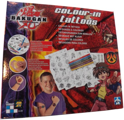 Bakugan Battle Brawlers Color-in Tattoos