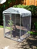 Lucky Dog 4-by-4-by-6 Foot CL64410 Hi-Rise Chain-Link Deck/Patio Kennel