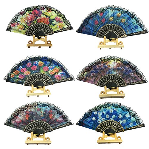 Liroyal 5 Pcs Hand Fan