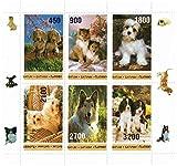 Sellos para coleccionistas - Perros lindos - 6 sellos perfecto estado que ofrecen perros - sellos de la naturaleza ideal para recoger - excelentes condiciones - Mint NH
