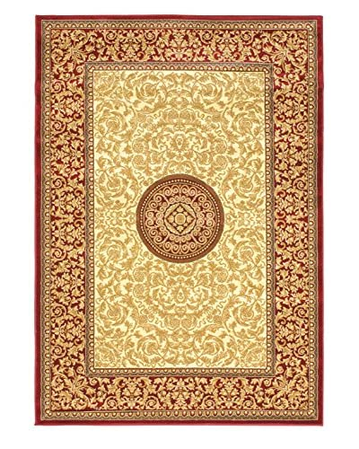 Royale Rug, Cream/Red, 5' 3 x 7' 7