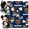 NFL Chicago Bears Mickey Mouse Pillow with Fleece Throw Blanket Set