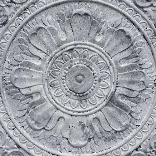 PL17Peinture en détresse blanc gris plafond Panneaux muraux décoration carrelage en relief fond photosgraphie 10pieces/Lot