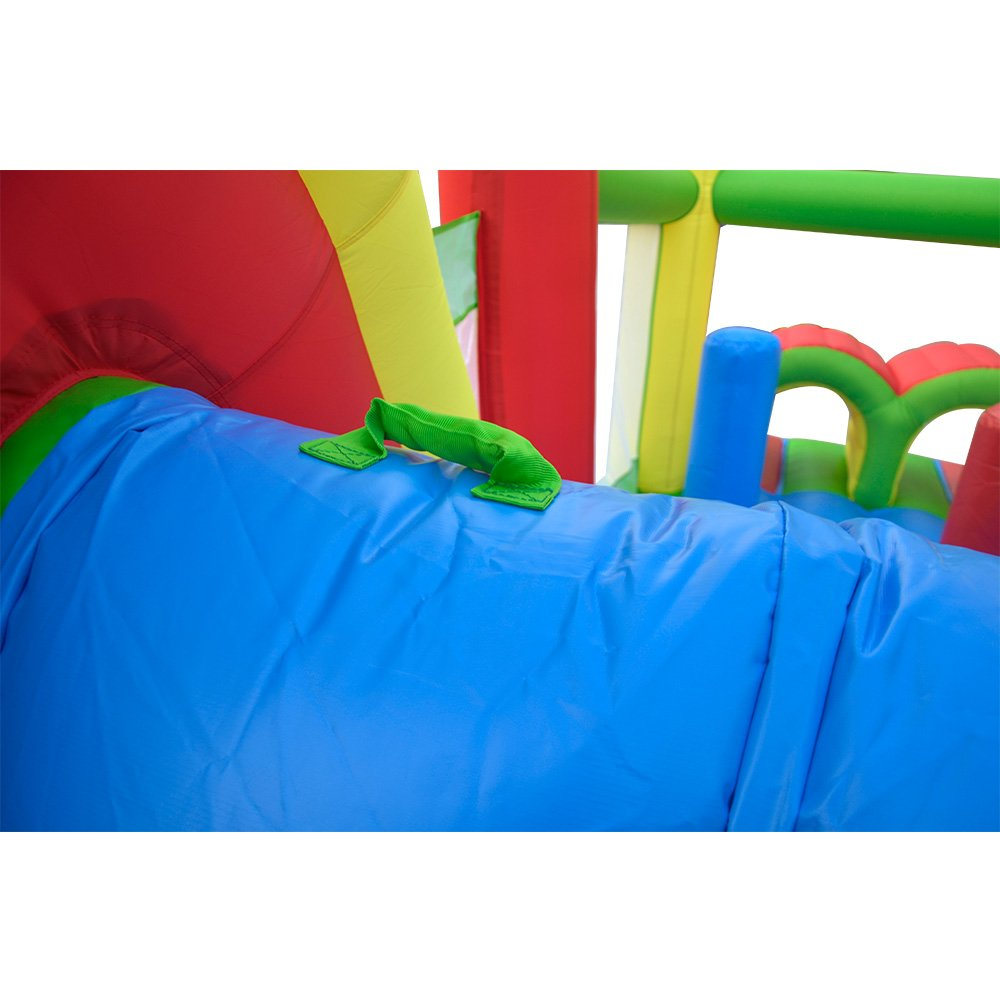 YARD Giant Inflatable Obstacle Course with Large Climbing Wall Slide Super Combo Bounce House 6 in 1 with Blower 21.3x9.2x7.9