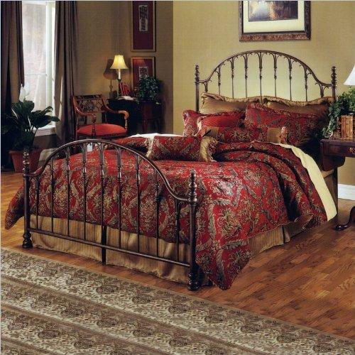 Hillsdale Furniture 1239Bkr Tyler Bed Set With Rails, King, Antique Bronze front-693313