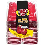 180 Cup 42RD Party Cup with Dual Shot Glass (Pack of 42), Red