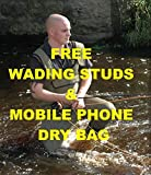 NEW BISON 5MM NEOPRENE CHEST WADERS WITH WADING STUDS & MOBIILE PHONE DRY BAG