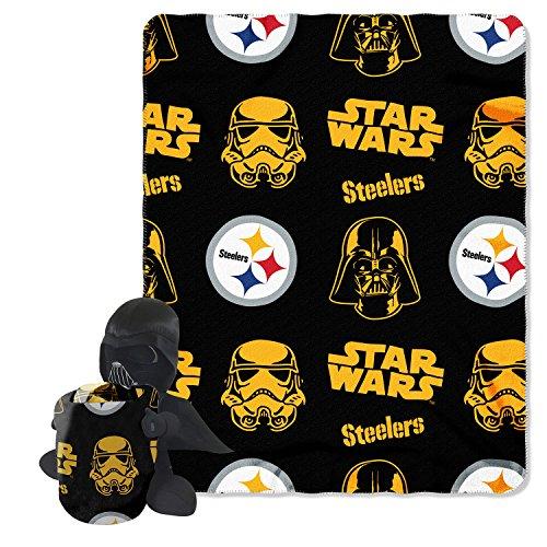 "NFL Pittsburgh Steelers Star Wars Darth Vader Hugger Blanket & Fleece Throw Set, 40 x 50"", Black at Steeler Mania"