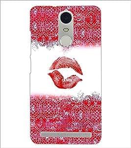PrintDhaba Lips Impression D-4037 Back Case Cover for LENOVO K5 NOTE (Multi-Coloured)