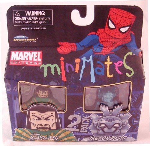 Marvel Minimates Series 36 Mini Figure 2Pack Modern Mandarin Dreadnought - 1