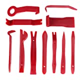 Auto Trim Removal Tool, Phyles 11 Pcs Car Audio Dash Door Panel Interior Molding Fastener Romovers Tool Kit (Color: Red)
