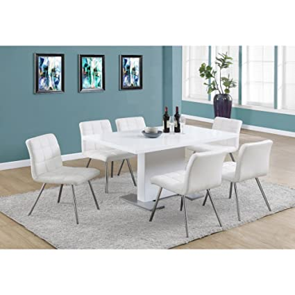 "HIGH GLOSSY WHITE 35""X 60"" DINING TABLE (SIZE: 59L X 35W X 30H)"