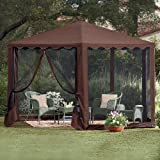Brylanehome New And Improved Waterproof 13'W Hexagon Gazebo