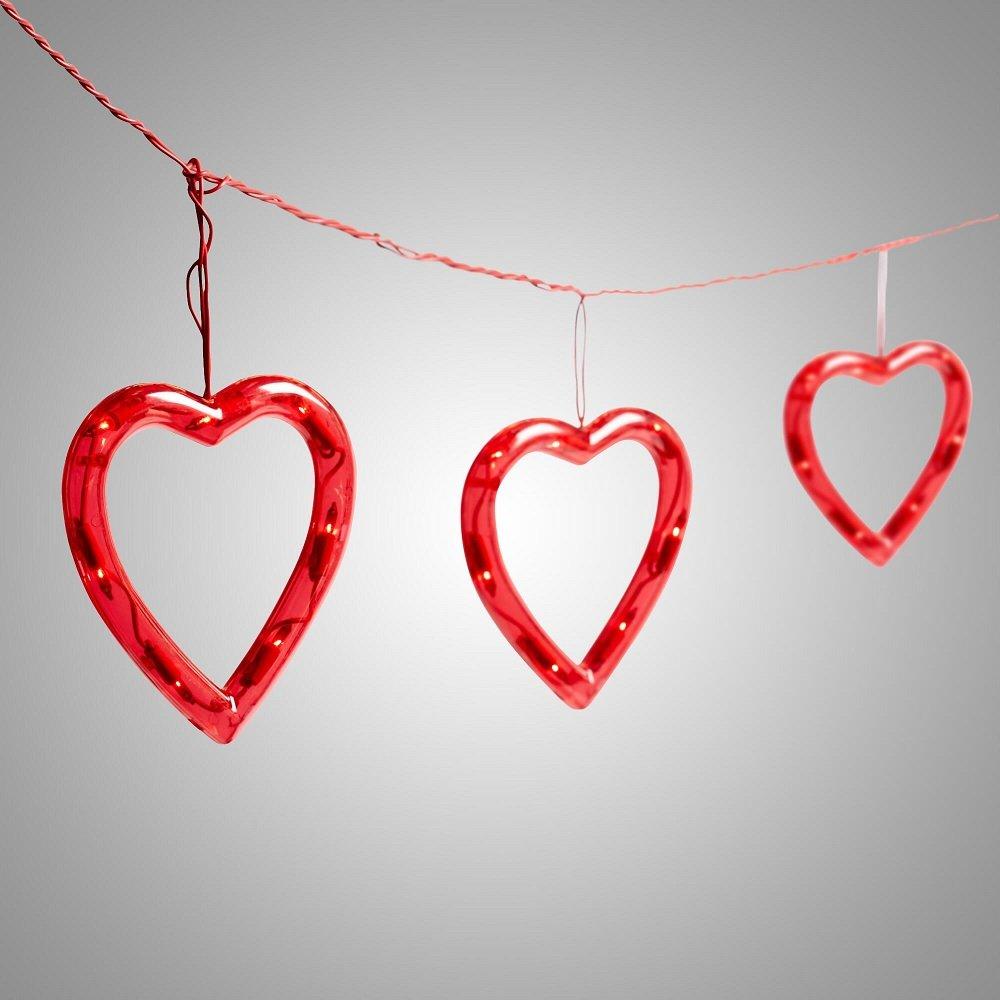 Heart String Lights Red : Valentines Day String Lights Valentine s Day Wikii
