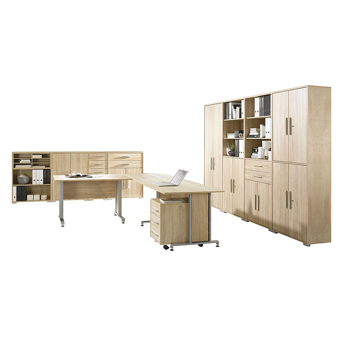 MAJA-Möbel 1204 5525 Büroprogramm SYSTEM, Sonoma-Eiche-Nachbildung