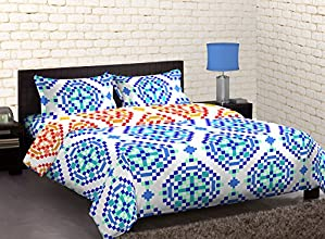 Home Expression USA Valance Abstract Polycotton Double Comforter - Queen Size, Multicolor