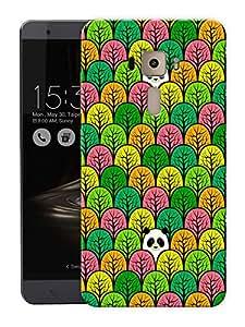 "Panda In Jungle - GreenPrinted Designer Mobile Back Cover For ""Asus Zenfone 3 Deluxe"" (3D, Matte, Premium Quality Snap On Case)"