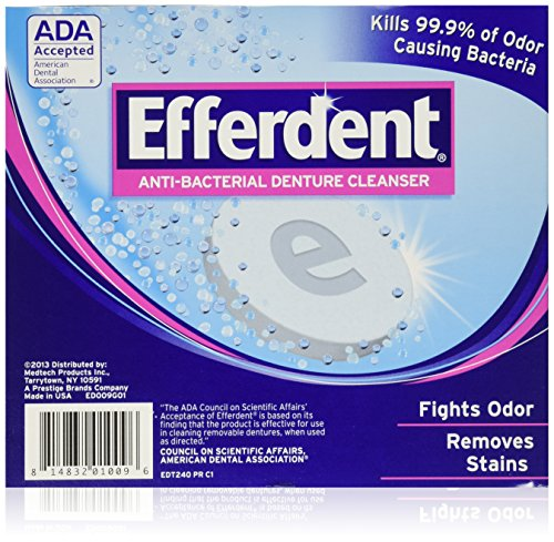 Efferdent Denture Cleanser - 240 tablets (Denture Cleaners compare prices)