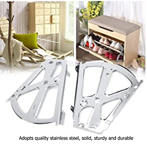 2Pcs Hinges Stainless Steel Shoes Drawer Cabinet Hinges Turing Rack Replacement Fittings Heavy Duty Household Wardrobes Cabinets Industrial Hinges(2 Layers) (Tamaño: 2 Layers)