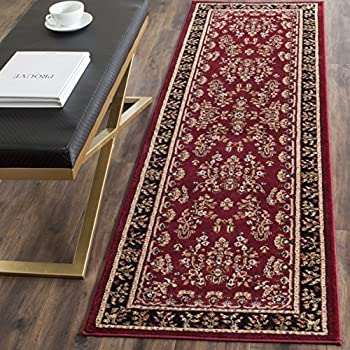 """Safavieh Lyndhurst Collection LNH331B Traditional Oriental Red and Black Runner (23"""" x 6)"""