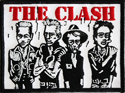 "THE CLASH Caricature, Officially Licensed Original Artwork, High Quality Iron-On / Sew-On, 3"" x 4"" Embroidered PATCH toppa"