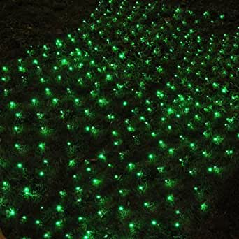 Amazon.com: Waterproof Green Solar Net Outdoor String Light: Home Improvement