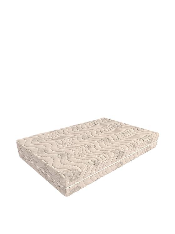 Foppapedretti Memorytreewave Materasso, Schiuma Poliuretanica, Bianco, 140 x 200 cm, A una Piazza e Mezza