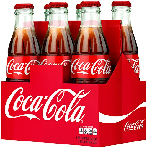 Coca-Cola, 6 PK, 8 Fl oz Glass Bottles (Coca Cola Holiday Soda Bottle compare prices)